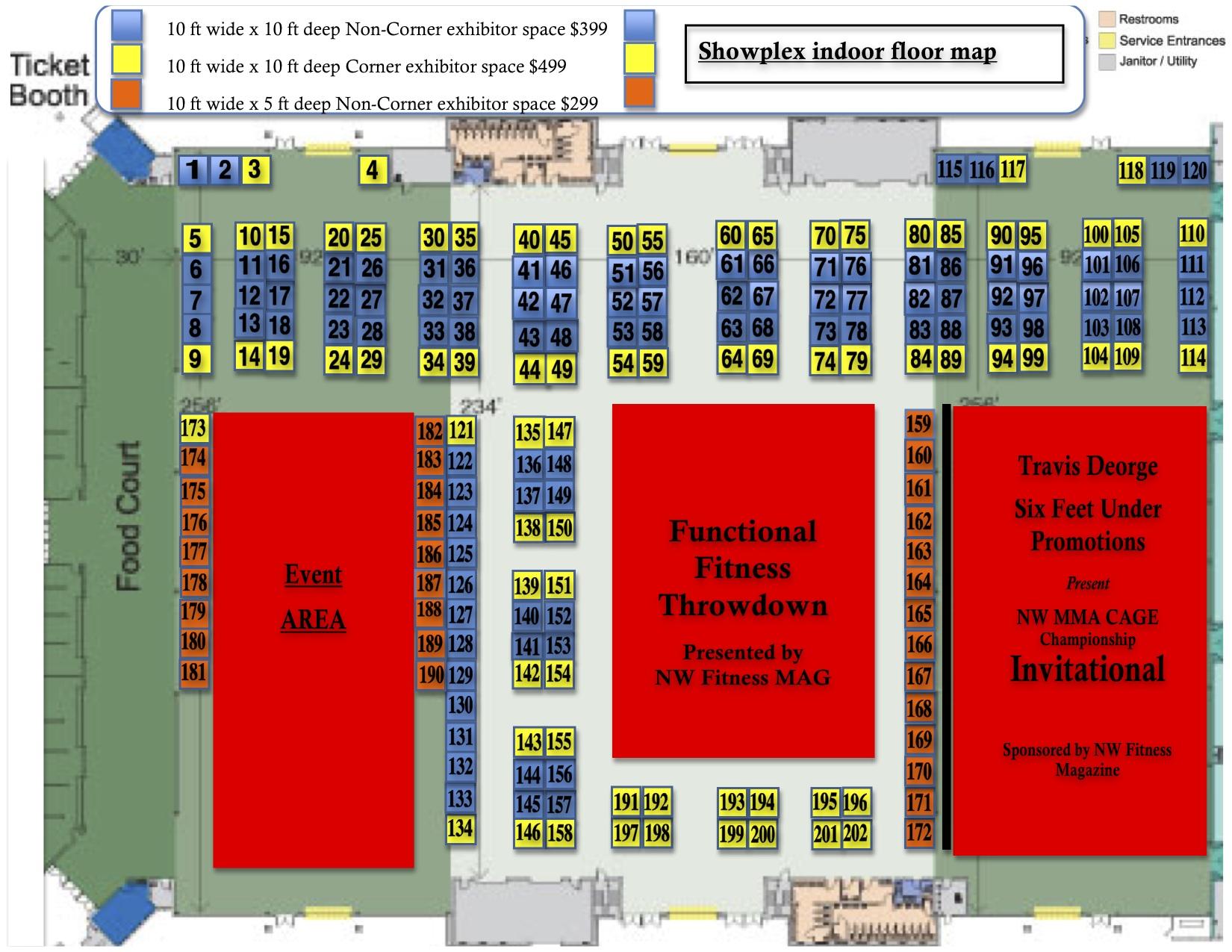WA State Fitness Expo  Indoor Floor Plan